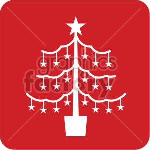 Christmas Tree Icon.White Christmas Tree Vector Icon Royalty Free Icon 407250