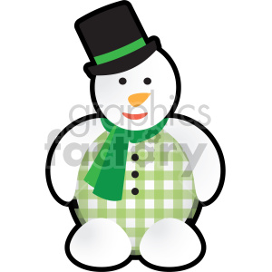 christmas snowman cartoon clipart. Commercial use image # 407361