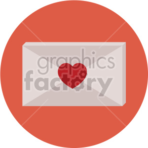 love letter for valentines vector icon on peach background clipart. Royalty-free image # 407469