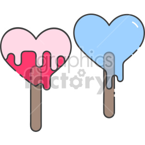 heart popsicles clipart. Commercial use image # 407470