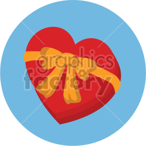 box of valentine candy vector icon on blue background clipart. Commercial use image # 407476