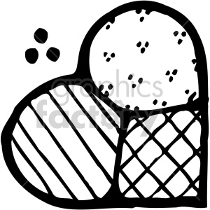 heart quilt black white clipart. Royalty-free image # 407517