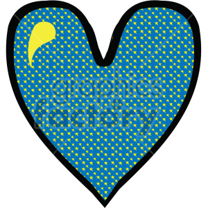 blue pattern heart clipart. Commercial use image # 407526