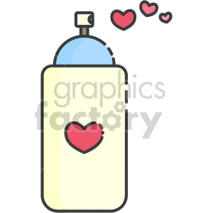 heart spray paint can clipart. Royalty-free image # 407559