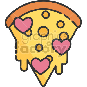 dripping heart pepperoni pizza clipart. Commercial use image # 407566