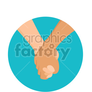 holding hands on blue background clipart. Royalty-free image # 407606