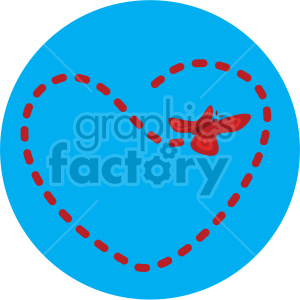 butterfly flying in heart pattern blue background clipart. Commercial use image # 407621