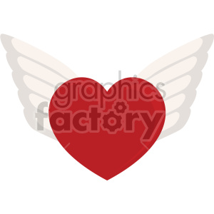 heart with wings for valentines no background clipart. Commercial use image # 407622