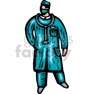 cartoon doctor clipart. Royalty-free image # 149501