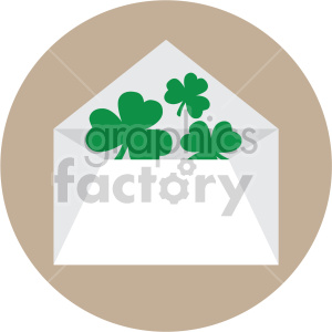 st patricks day envelope on circle background clipart. Commercial use image # 407642