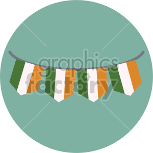 st patricks day irish pride banner on circle background clipart. Royalty-free image # 407664