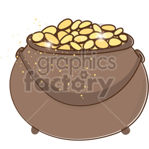 st patricks day pot of gold clipart. Royalty-free icon # 407681