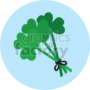 st patricks day clovers shamrocks on circle background clipart. Royalty-free image # 407691