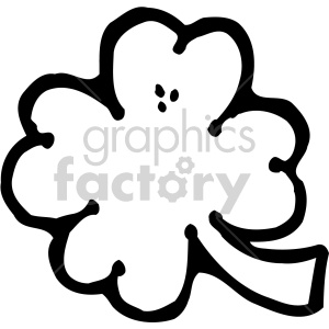 four leaf clover 003 bw clipart. Commercial use image # 407707
