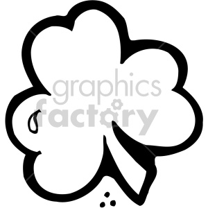 shamrock clover 009 bw clipart. Commercial use image # 407711