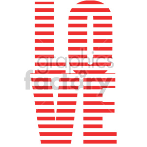 love text word art clipart. Commercial use image # 407733