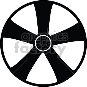 wheel rim five star clipart. Royalty-free image # 407778