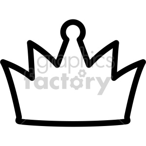 crown outline clipart. Royalty-free image # 407780