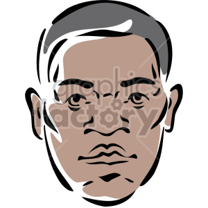 African American mans face clipart. Commercial use image # 157261