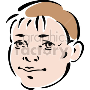 kid's face clipart. Royalty-free image # 157275