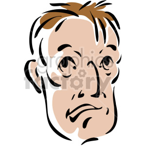 sad man's face clipart. Royalty-free image # 157283