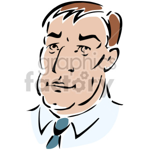 man's face clipart. Royalty-free image # 157307