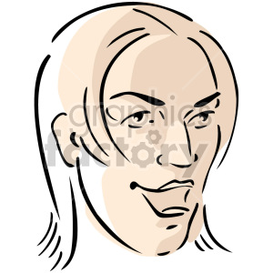 sassy female face clipart. Commercial use image # 157433