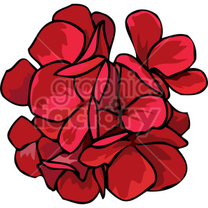 red flowers clipart. Royalty-free image # 151125