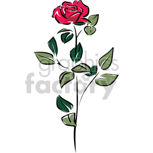 red rose clipart. Commercial use image # 151189