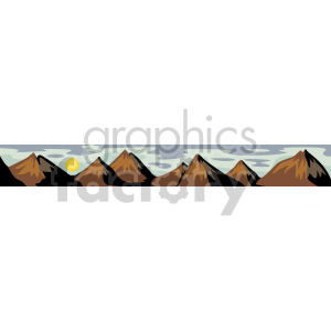 Mountain range clipart. Royalty-free image # 166990