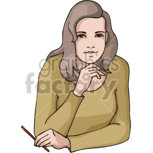 women in deep thought clipart. Royalty-free image # 155385