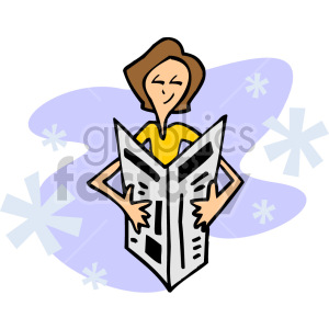 lady reading a newspaper clipart. Royalty-free image # 155291