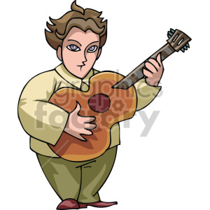 guy playing guitar clipart. Commercial use image # 155339