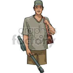 guy ready to go fishing clipart. Royalty-free image # 168921