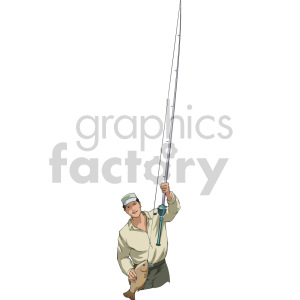 man fly fishing clipart. Commercial use image # 168917