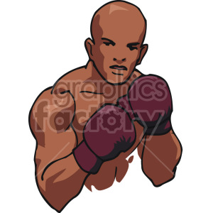 African American boxer clipart. Royalty-free image # 168735