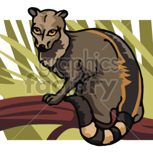 image of a lemur clipart. Commercial use image # 129270