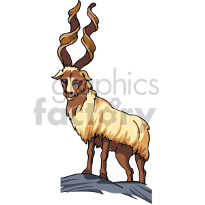 image of a gazelle clipart. Commercial use image # 129272