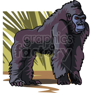 gorilla clipart. Royalty-free image # 129296