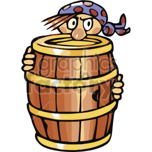 pirate hiding behind barrel clipart. Commercial use image # 407804