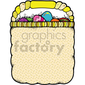 easter basket full of eggs clipart. Commercial use image # 407847