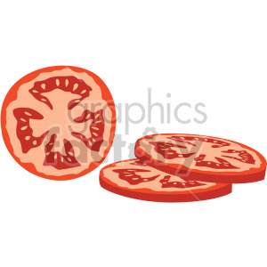 sliced tomato clipart. Royalty-free image # 407985
