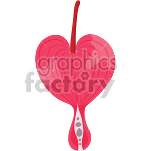 bleeding heart flower clipart. Commercial use image # 408036