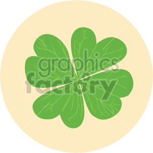 four leaf clover on yellow circle background clipart. Royalty-free image # 408045