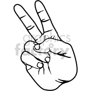 hand sign two black white