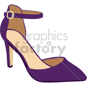 purple strap heels shoes clipart. Commercial use image # 408134