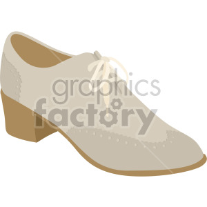 womans oxford shoes clipart. Commercial use image # 408148