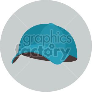 blue baseball hat on gray background