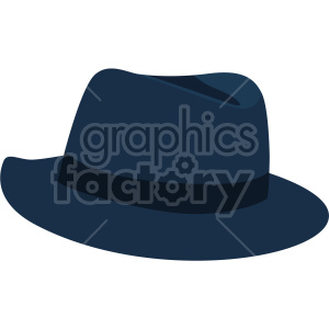 Pork Pie hat no background clipart. Royalty-free image # 408188