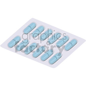 pill package no background clipart. Commercial use image # 408216